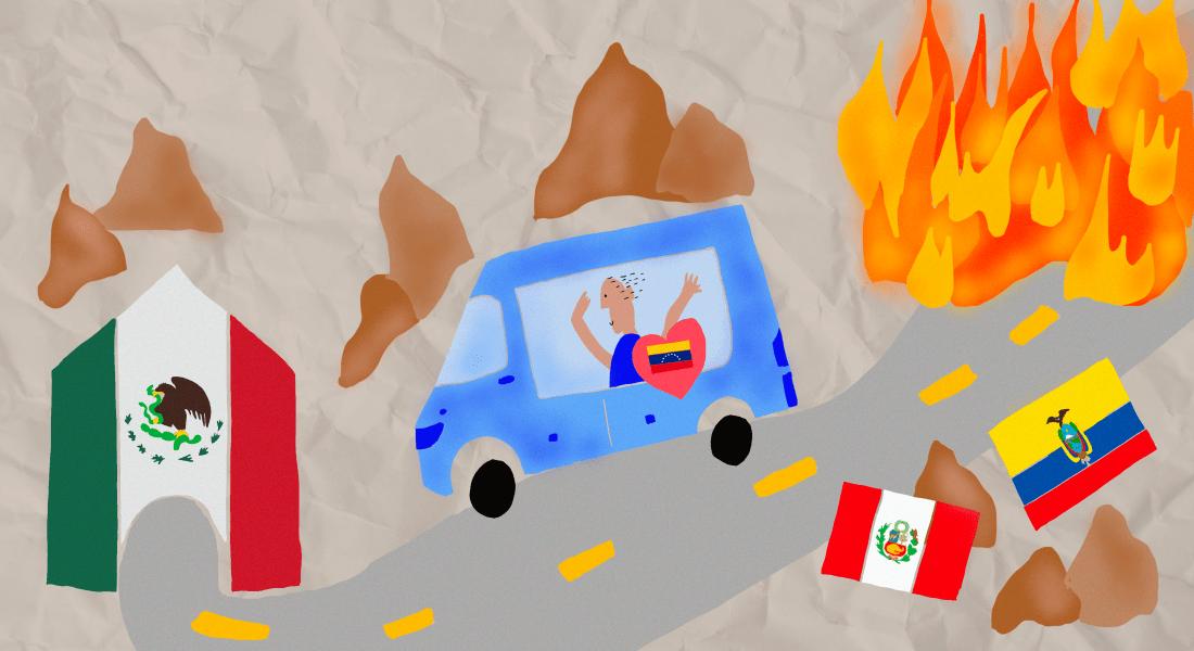 From the arepa to the taco. Ilustración de Sofía Fernández Castelló