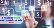 Los 5 negocios online más rentables del año 2018