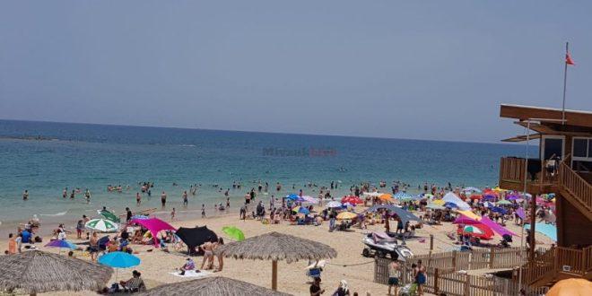 עומס חריג בחוף פלמחים, הציבור מתבקש שלא להגיע למקום