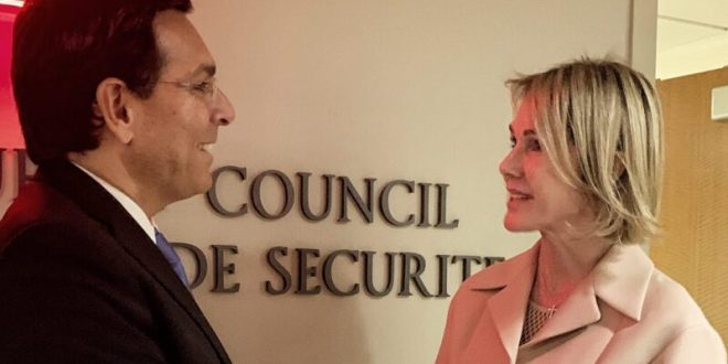 """דנון לשגרירת ארה""""ב באו""""ם: """"מברכים על נוכחותך כאן"""""""