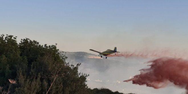 10 מטוסי כיבוי ומסוק מהמערך האווירי של משט...