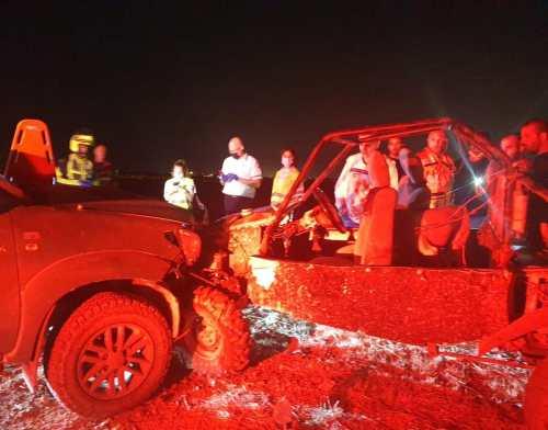 WhatsApp-Image-2021-05-06-at-22.55.03-500x392 שני פצועים בינוני בתאונת דרכים בשטח פתוח סמוך לכביש 352