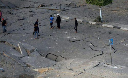 WhatsApp-Image-2021-05-13-at-18.13.30-500x304 תיעוד מטורף: תקיפת מטה המנגנון לביטחון הפנים של חמאס ברפיח