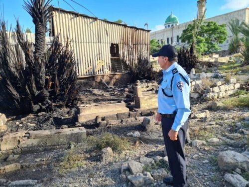 WhatsApp-Image-2021-05-17-at-18.00.56-1-500x375 המשטרה פתחה בחקירה בעקבות שריפה בבית העלמין המוסלמי בחיפה