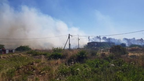 WhatsApp-Image-2021-05-18-at-19.11.25-500x281 לוחמי אש מתחנת בנימין פעלו לכיבוי אש תוך כדי הפרת סדר המלווה בירי