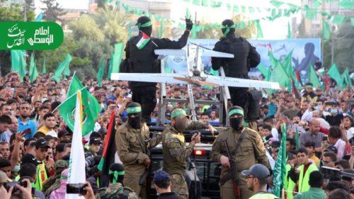 photo5875446632101820031-500x281 חמאס קיים עצרת המונית לרגל ''ניצחון ההתנגדות בקרב על חרב ירושלים''