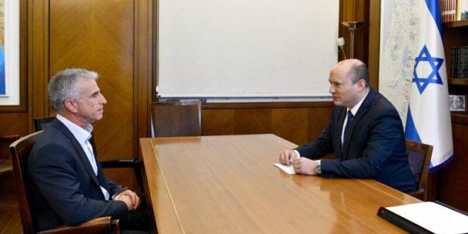 """רה""""מ בנט קיים פגישת עבודה ראשונה עם ראש המוסד ברנע"""