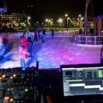Glow Skate Lights Up the City Square Ice Rink