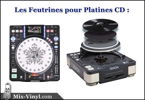 feutrine platine cd