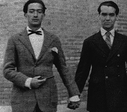 Ο Σαλβαντόρ Νταλί με το Φεδερίκο Γκαρσία Λόρκα