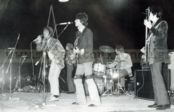 Στιγμιότυπο από τη συναυλία του συγκροτήματος στην ΑΘήνα