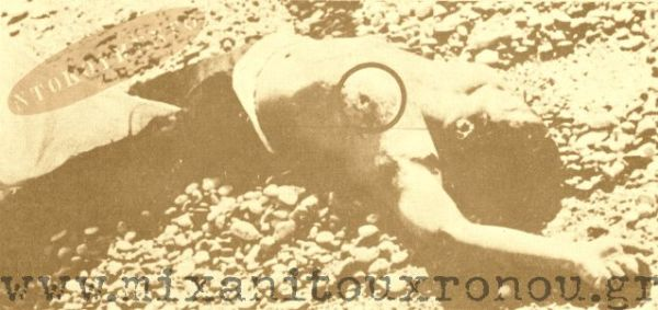 """Ο Νικηφορος Μανδηλαράς νεκρός σε παραλία της Ρόδου. μέσα σε κύκλο το ύποπτο τραύμα που παραπέμπει σε μαχαιριά ή πιστολία. Ο ιατροδικαστής έγραψε """"πνιγμός""""."""