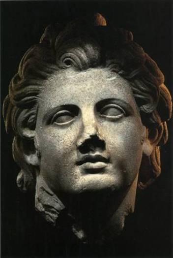 Αρχαιολογικό Μουσείο Θάσου, Ελλάς. Προτομή Αλεξάνδρου από μάρμαρο.