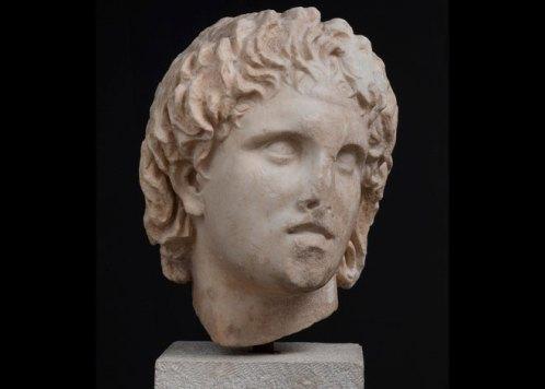 Μαρμάρινη κεφαλή του Αλεξάνδρου. 3ος αι. π.Χ., Πέλλα.