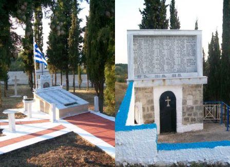 Τα μνημεία των εκτελεσθέντων στα Κάτω και Άνω Κερδύλια αντίστοιχα