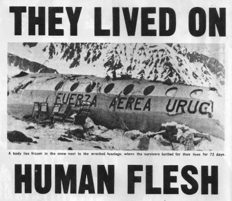 """""""Έζησαν με ανθρώπινη σάρκα"""", έγραφε το πρωτοσέλιδο αμερικάνικης εφημερίδας"""