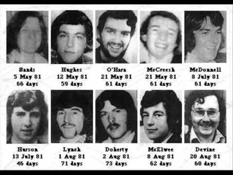 Οι 10 απεργοί πείνας που πέθαναν στη φυλακή το 1981.