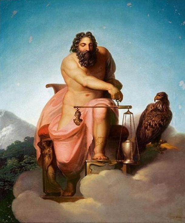 Zeus-weighing-the-fate-of-man