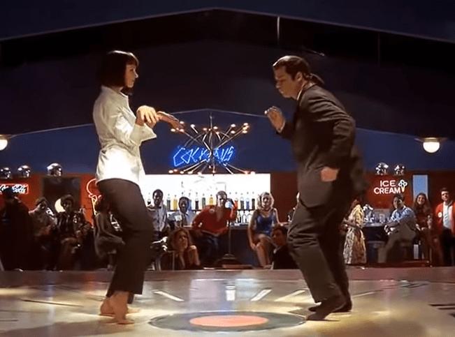 """Ο χορός στο """"Pulp Fiction"""" ήταν εμπνευσμένος από τις Αριστόγατες της Ντίσνεϊ. Η σκηνή όπου η Ούμα Θέρμαν """"επανέρχεται"""" με σύριγγα στην καρδιά γυρίστηκε ανάποδα. Στην προβολή κατέρρευσε ένας θεατής"""