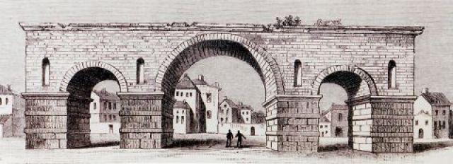 H Aψίδα του Γαλέριου στην αρχική της μορφή
