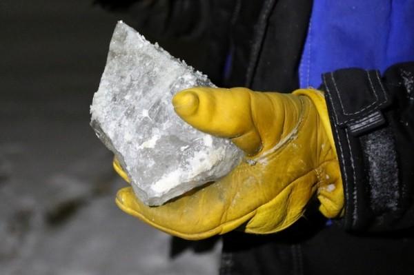 Η παγωμένη ατμόσφαιρα βοήθησε τους επιστήμονες για την συλλογή των δειγμάτων αλλά και για την κατάβαση τους στο εσωτερικό του κρατήρα