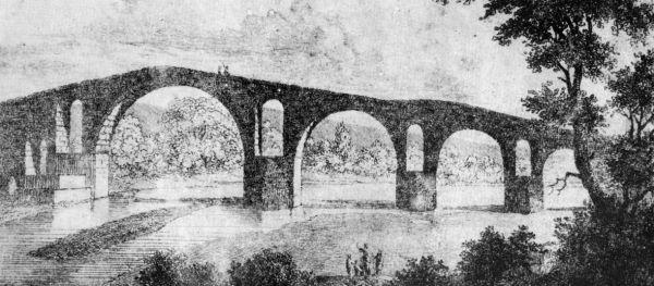Το γεφύρι της Άρτας σε γκραβούρα του W. Turner (1820)