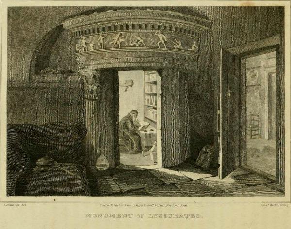 Όπως απεικονίζεται στην παραπάνω φωτογραφία, ο αρχαίος ναός ήταν εντοιχισμένος με το μοναστήρι. Οι μοναχοί είχαν ανόιξει μία πόρτα και χρησιμοποιούσαν το εσωτερικό του ως αναγνωστήριο.