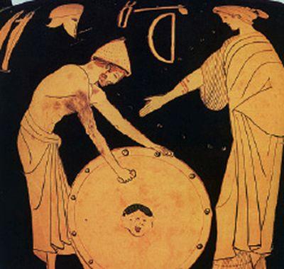 Η Θέτις παραλαμβάνει από τον Ήφαιστο την ασπίδα του Αχιλλέα