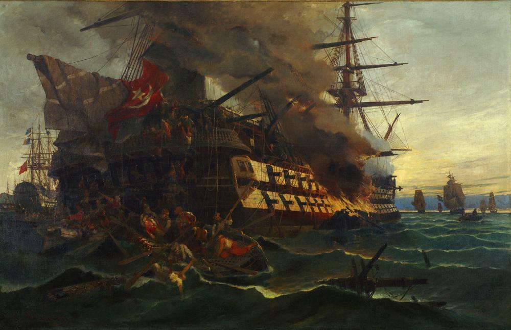 Η ναυμαχία των Σπετσών, όπου ο ελληνικός στόλος αυτοσχεδίασε και κατατρόπωσε 87 πλοία του τουρκοαιγυπτιακού στόλου. Πώς τέσσερις Έλληνες ναυτικοί παράκουσαν τις εντολές του Μιαούλη και παρέσυραν τους Τούρκους στην καταστροφή