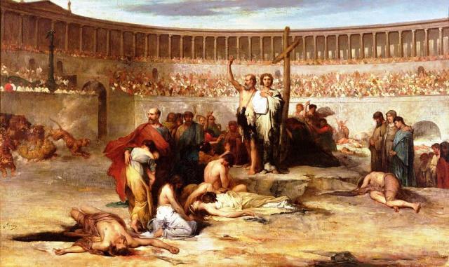 Γιατί η παρθενία των Χριστιανών γυναικών θεωρήθηκε ο μεγαλύτερος εχθρός των Ρωμαίων και θεσπίστηκε η ανήκουστη ποινή του δημόσιου βιασμού. Ο δήμιος αναλάμβανε την εκτέλεση ή και ο ίδιος ο αυτοκράτορας