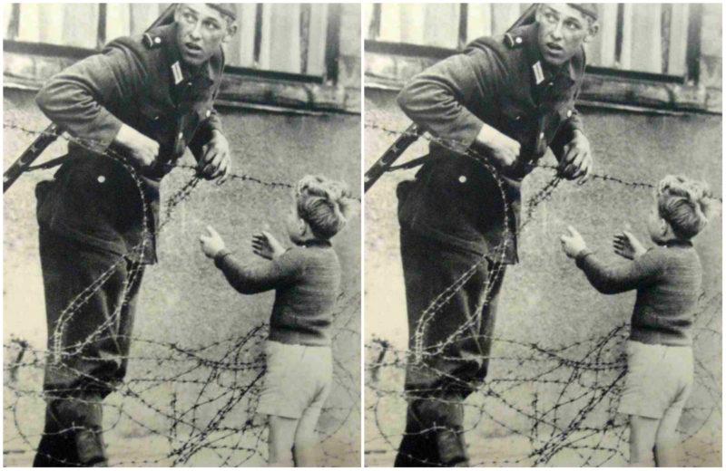 Ο ανατολικογερμανός στρατιώτης που βοήθησε ένα αγοράκι να περάσει το τείχος του Βερολίνου, την πρώτη μέρα που υψώθηκε. Πως αντέδρασε ο αξιωματικός όταν τον είδε
