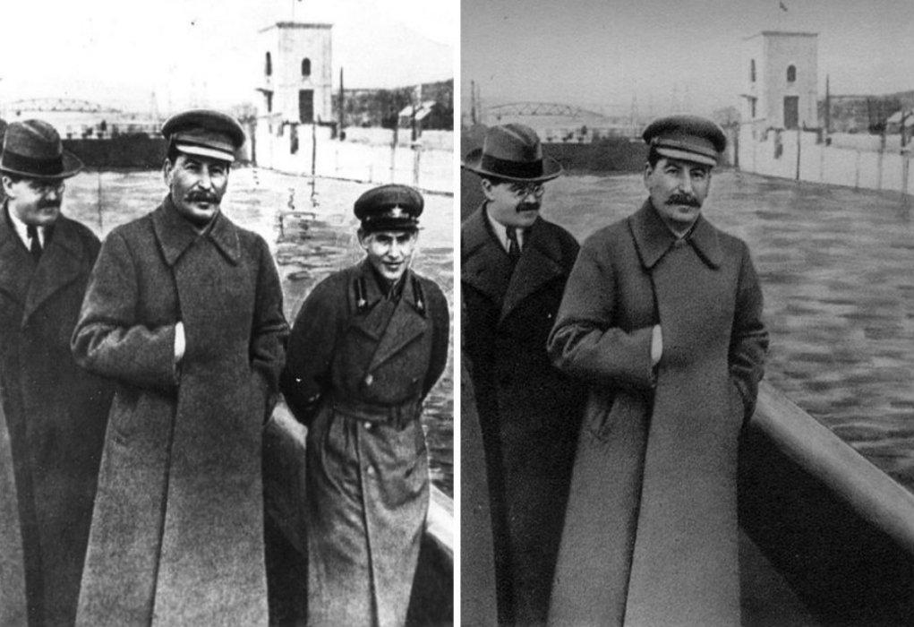 """Το """"φώτοσοπ"""" του Στάλιν. Πώς αφαιρέθηκε από τη φωτογραφία ο άνθρωπος που είπε: """"Καλύτερα να υποφέρουν δέκα αθώοι άνθρωποι παρά να γλιτώσει ένας κατάσκοπος"""""""