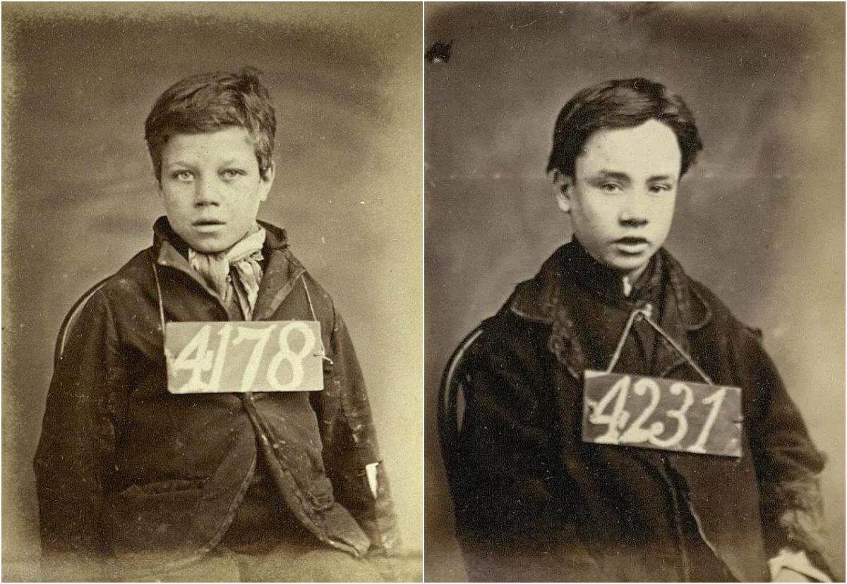 """Φωτογραφίες από τους ανήλικους """"εγκληματίες"""" του Λονδίνου το 1870. Οι δικαστές τους καταδίκαζαν σε μαστιγώματα και καταναγκαστικά έργα για μικροκλοπές"""