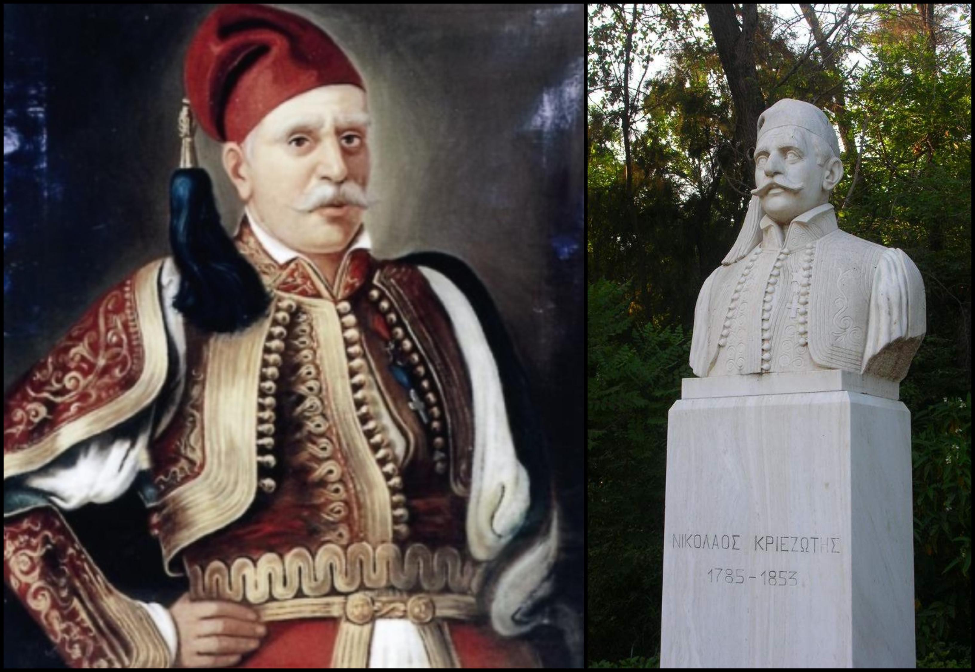 Νικόλαος Kριεζιώτης. Από βοσκός έγινε οπλαρχηγός της Εύβοιας. Η μάχη που τον εδραίωσε και το κόλπο με τις μέλισσες
