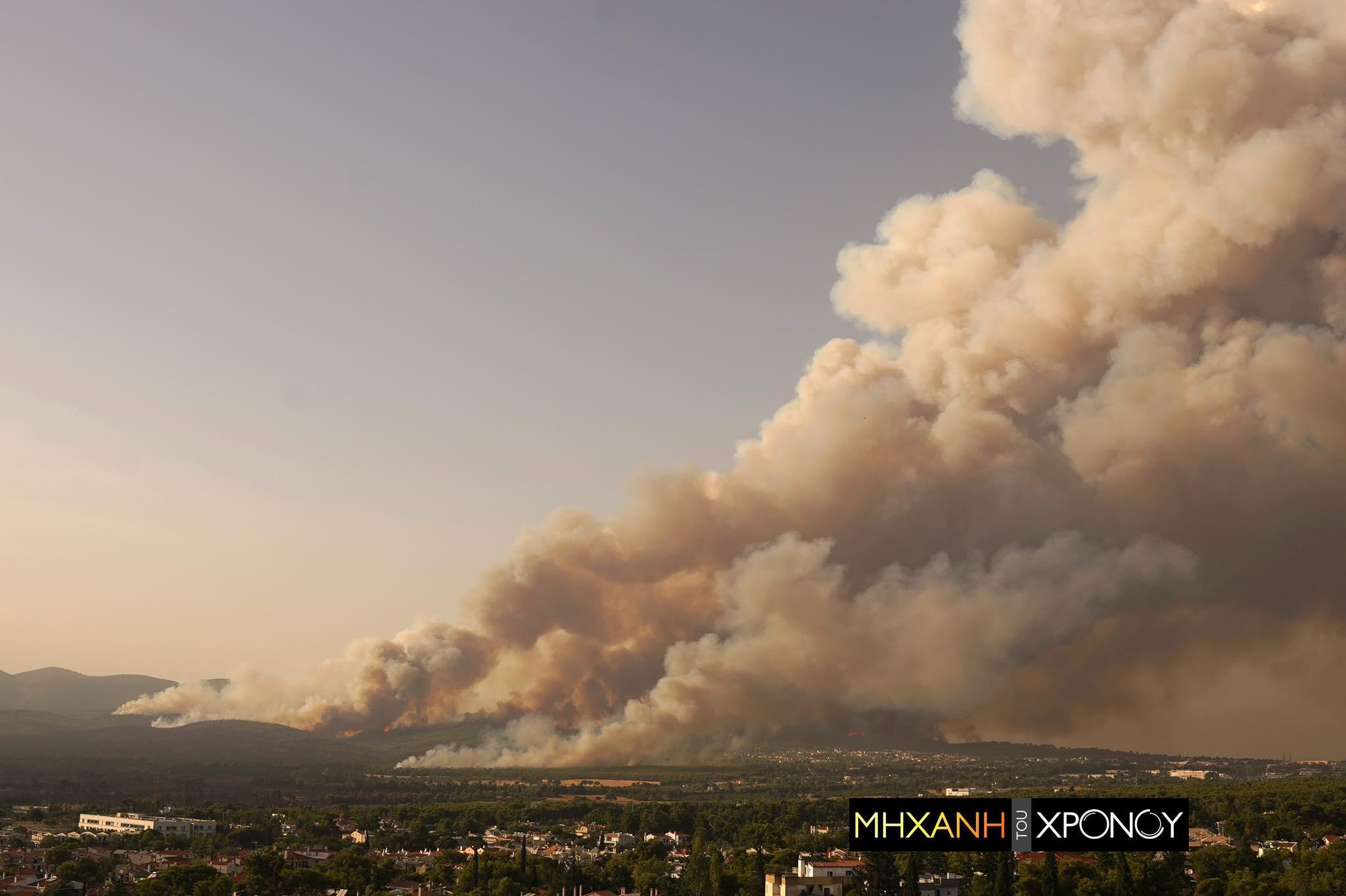 24 ώρες μέσα σε ένα λεπτό! H καταστροφική πυρκαγιά της Αττικής σε Time Lapse. Δείτε πως έγινε η αναζωπύρωση