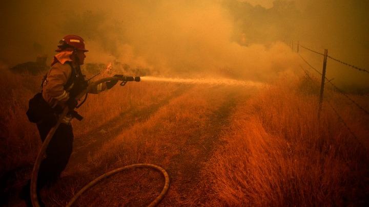 Μαίνονται οι πυρκαγιές στην Καλιφόρνια. Πυροσβέστες τυλίγουν με αλουμινόχαρτα τις σεκόγιες για να σωθούν (Eικόνες)