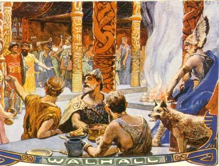 walhalla ,palatul lui Odin