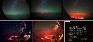 Luminile spectaculoase de deasupra ocenului pacific
