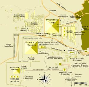 cum au fost construite piramidele.harta platoului de la giseh