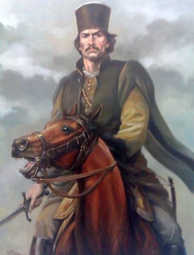 Imagini pentru tudor vladimirescu  si pandurii trec oltul photos
