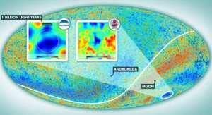 Harta radiatiei cosmice de fond