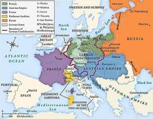 Impartirea Europei dupa Congresul de la Viena