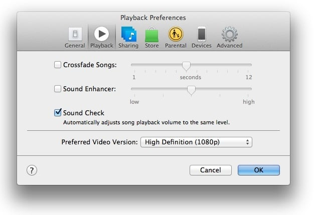 itunes_soundcheck_preferences_playback