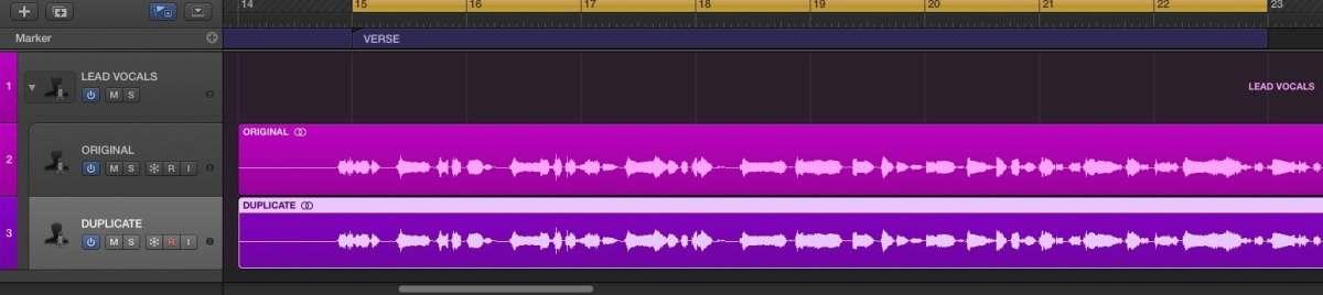parallel processing duplicate track logic pro x