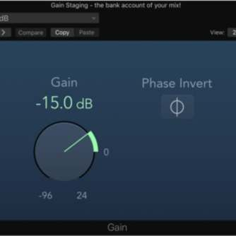 Logic Pro X Gain Staging individual tracks -15dB