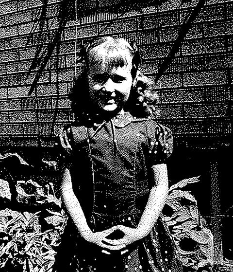 First day of Kindergarten, 1955