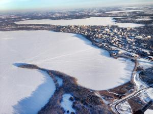Winter in Madison, Wisconsin Photo Credit: UW Med Flight
