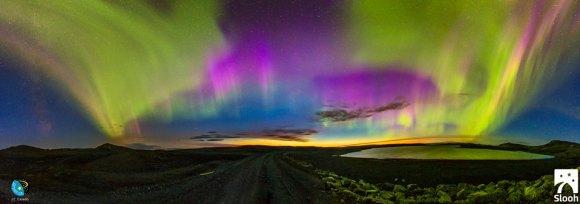 Geomagnetic Storm, Iceland, Photo Credit: Slooh