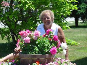 Mom & flowers
