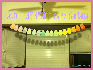 Easter Egg {Paint Chip} Garland